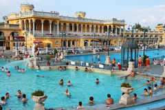 La station thermale de Szechenyi à Budapest Photos libres de droits