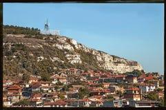 La station touristique de la Mer Noire de Balchik, Bulgarie Photos libres de droits