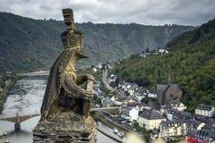 La statua al castello di Cochem Fotografia Stock Libera da Diritti