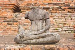 La statua antica del buddha Fotografie Stock Libere da Diritti