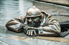 La statua bronzea Fotografia Stock