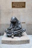 La statua bronzea di Gesù senza tetto immagini stock libere da diritti