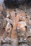 La statua buddista di pietra Fotografia Stock