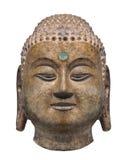 La statua capa antica di Buddha ha isolato immagini stock libere da diritti