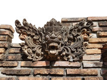 La statua dei caratteri leggendari è stata creata per rispettare ed espressioni culturali della Tailandia Fotografia Stock Libera da Diritti