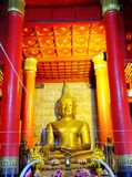 La statua del buddha dell'oro Fotografia Stock