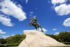 La statua del cavallerizzo bronzeo Fotografia Stock