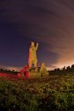 La statua del fieno di Snugburys di un indicatore luminoso dell'orso polare ha verniciato Immagine Stock Libera da Diritti