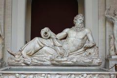La statua del fiume Dio il Tigri o Arno fotografia stock libera da diritti