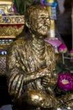La statua del monaco buddista Fotografia Stock Libera da Diritti