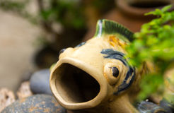 La statua del pesce Fotografie Stock Libere da Diritti