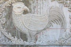 La statua del pollo fotografia stock