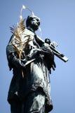 La statua del ponticello del Charles Fotografie Stock Libere da Diritti