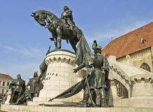 La statua del re Matthias Corvinus Fotografia Stock
