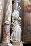La statua del san, chiesa dell'annuncio a Transferrina, Sloveni Immagini Stock