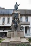 La statua dell'ex presidente della posta Juan Rafael Mora Porras, San José, Costa Rica Immagini Stock Libere da Diritti