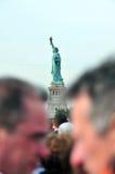 La statua dell'isola di libertà Fotografia Stock Libera da Diritti
