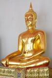La statua dell'oro del Buddha Fotografie Stock Libere da Diritti