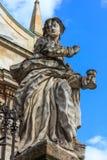 La statua della chiesa del Paul e del Peter santo Immagini Stock Libere da Diritti
