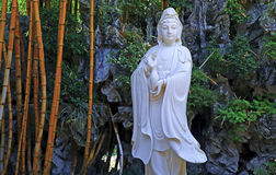 La statua della giada del avalokiteshvara Immagini Stock Libere da Diritti
