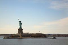 La statua della libertà iconica Fotografie Stock Libere da Diritti
