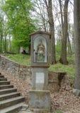 La statua della st Florian il protettore dei pompieri era una ROM - Maria Radna Franciscan Monastery - Lipova, Arad, Romania immagini stock libere da diritti