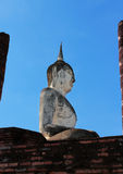 La statua di Buddha è Sukhothai in Tailandia Fotografia Stock Libera da Diritti