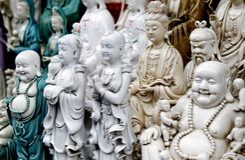 La statua di Buddha. Fotografia Stock Libera da Diritti