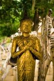 La statua di Buddha di ฺGolden Fotografie Stock Libere da Diritti