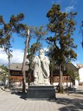 La statua di Confucius Fotografie Stock Libere da Diritti
