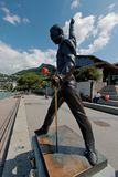 La statua di Freddie Mercury a Montreux Fotografia Stock