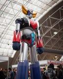 La statua di Goldrake alla convenzione di Festival del Fumetto a Milano, Italia Fotografia Stock Libera da Diritti