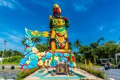 La statua di Guan Yu a Phuket, Tailandia Fotografie Stock