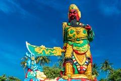 La statua di Guan Yu a Phuket, Tailandia Fotografia Stock