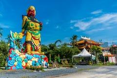 La statua di Guan Yu a Phuket, Tailandia Immagini Stock