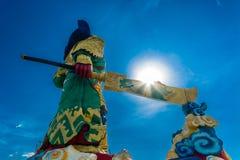 La statua di Guan Yu a Phuket, Tailandia Fotografia Stock Libera da Diritti