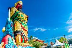 La statua di Guan Yu a Phuket, Tailandia Immagini Stock Libere da Diritti
