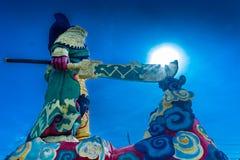 La statua di Guan Yu a Phuket, Tailandia Immagine Stock Libera da Diritti