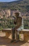 La statua di Josep Pla Immagini Stock Libere da Diritti