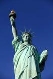 La statua di libertà con il cielo libero Fotografia Stock Libera da Diritti