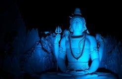 La statua di Lord Shiva a Murugeshpalya, Bangalore, India Immagini Stock Libere da Diritti