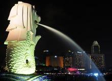 La statua di Merlion a Singapore Immagini Stock Libere da Diritti