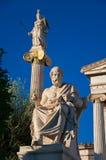 La statua di Platone. Atene, Grecia. immagini stock libere da diritti