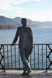 La statua di re Alphonso su Balcon de Europa a Nerja Andalusia Spagna Fotografia Stock Libera da Diritti