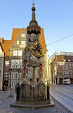 La statua di Roland a Brema Immagini Stock Libere da Diritti