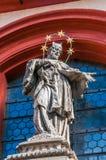 La statua di San Giovanni Nepomuceno Fotografia Stock Libera da Diritti