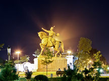 La statua di Tamerlane Immagini Stock Libere da Diritti