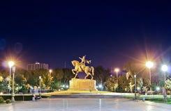 La statua di Tamerlane immagine stock libera da diritti