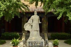 La statua di Xiang Yu nell'area scenica del cavallo di dramma a Xuzhou, Cina fotografia stock