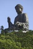 La statua gigante di Buddha a Hong Kong Immagine Stock